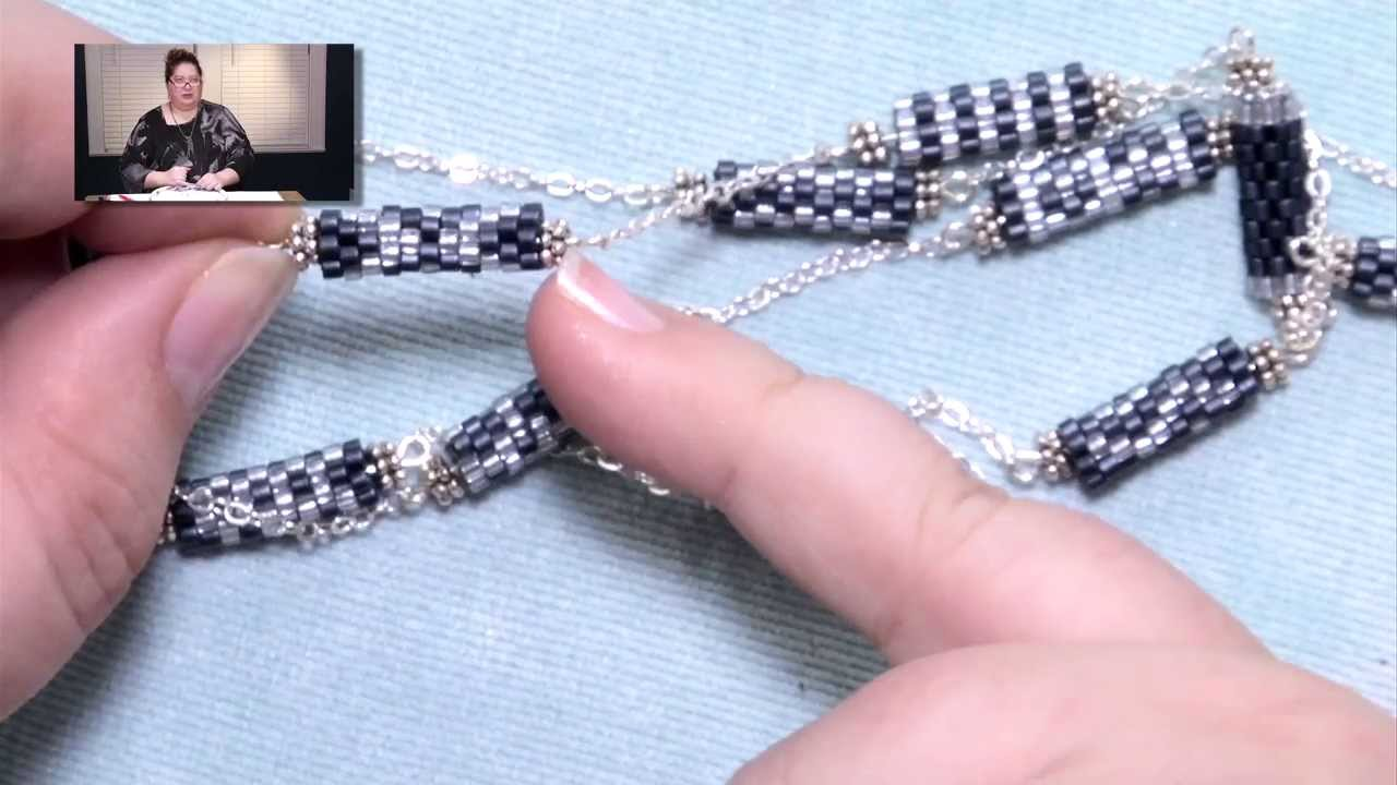 Peyote Tube Necklace Project Youtube