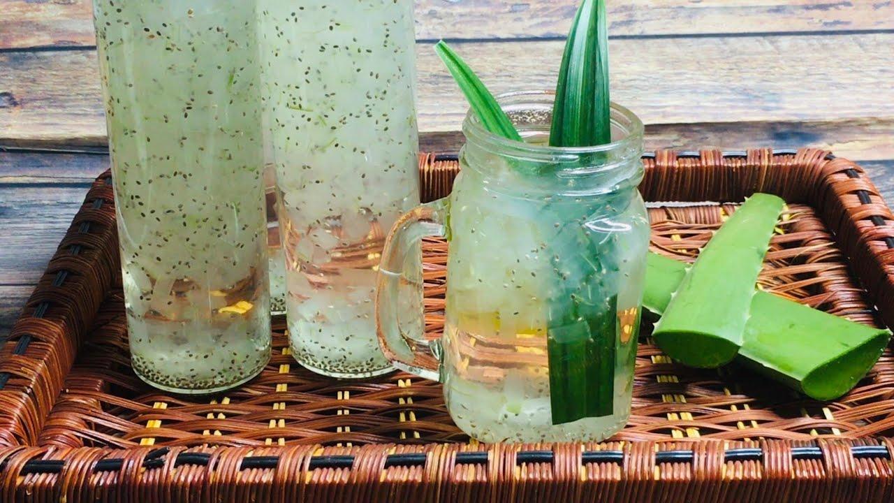 #12-NHA ĐAM HẠT CHIA/Aloe Vera with Chia Seeds-Cách nấu nha đam hạt chia KHÔNG BỊ ĐẮNG, GIÒN NGON