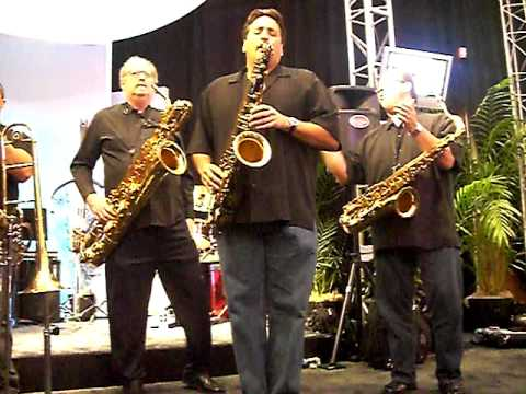 Tower Of Power Horns perform accapella at Yamaha Booth at 2008 NAMM Show