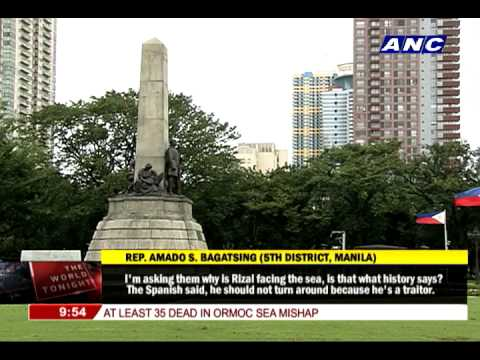 Bagatsing wants to change Rizal's 'point of view'