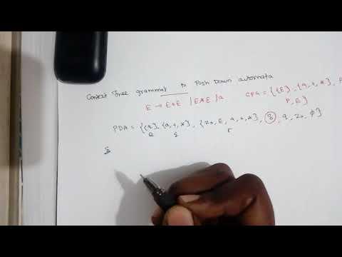 Context free grammar to push down automata by Deeba Kannan