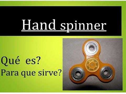 Que es y para que sirve un hand spinner - YouTube