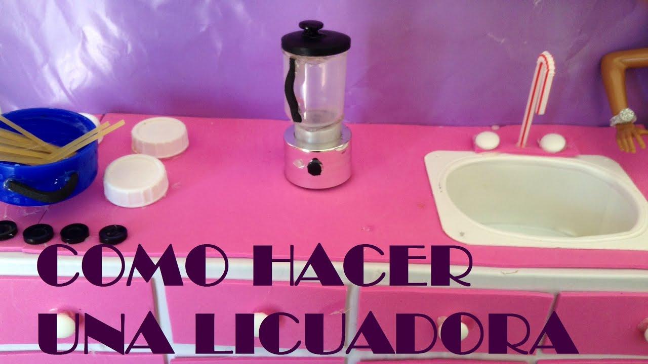 COMO HACER UNA LICUADORA PARA MUECASblender How To Make Dolls