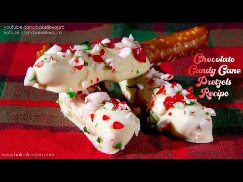 Easy Chocolate Candy Cane Pretzels