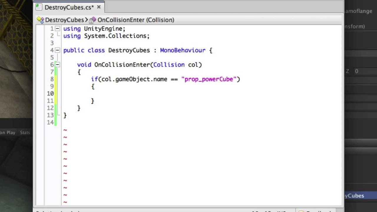Detecting Collisions (OnCollisionEnter) - Unity Official Tutorials