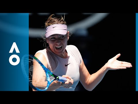 Maria Sharapova v Anastasija Sevastova match highlights 2R  Australian Open 2018