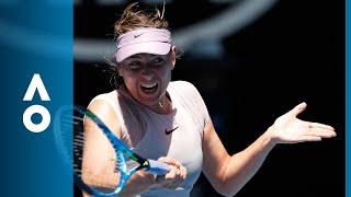 Maria Sharapova v Anastasija Sevastova match highlights (2R) | Australian Open 2018