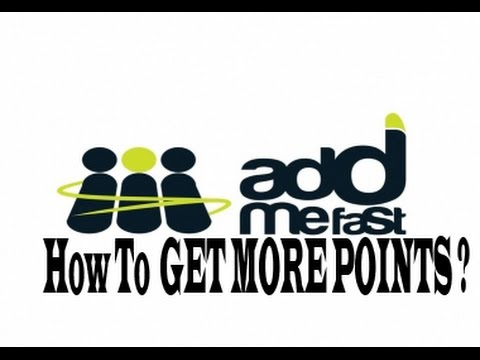 How To Get More Points On addmefast.com *2015*