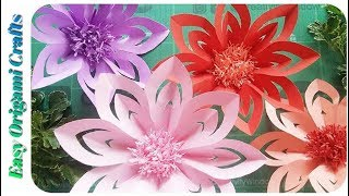 DIY Paper Flower Crafts   Paper Crafts   Best Out Of Waste Idea   Origami Flowers