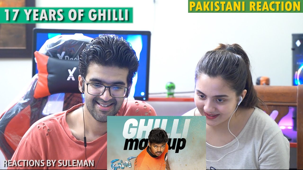 Pakistani Couple Reacts To Ghilli Mashup | 17 Years Special | Thalapathy Vijay | Trisha