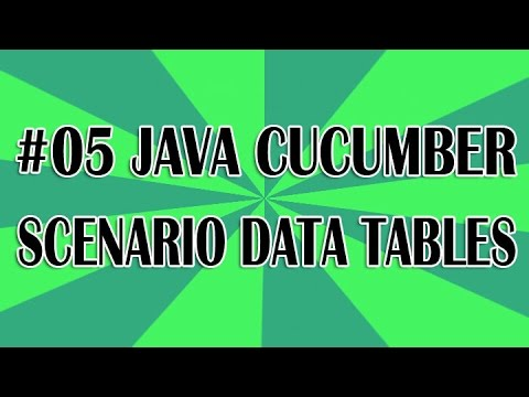 JUnit Cucumber Tutorial 05 - Scenario Data Tables