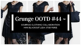 Grunge OOTD #44 ~ Sourpuss Clothing Collaboration ~ Mini Blackout Leda Stud Purse