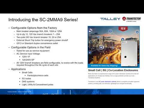 Webinar: Transtector Small Cell Power Solutions