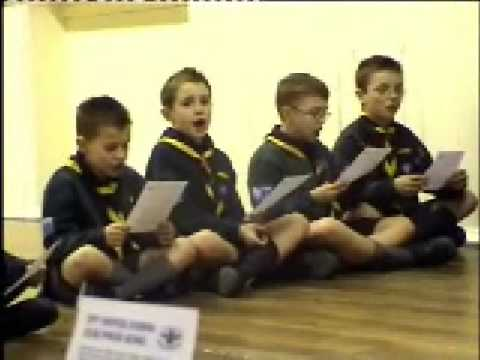 Learning the Cobra Cub Pack Song 2009 - techno version!