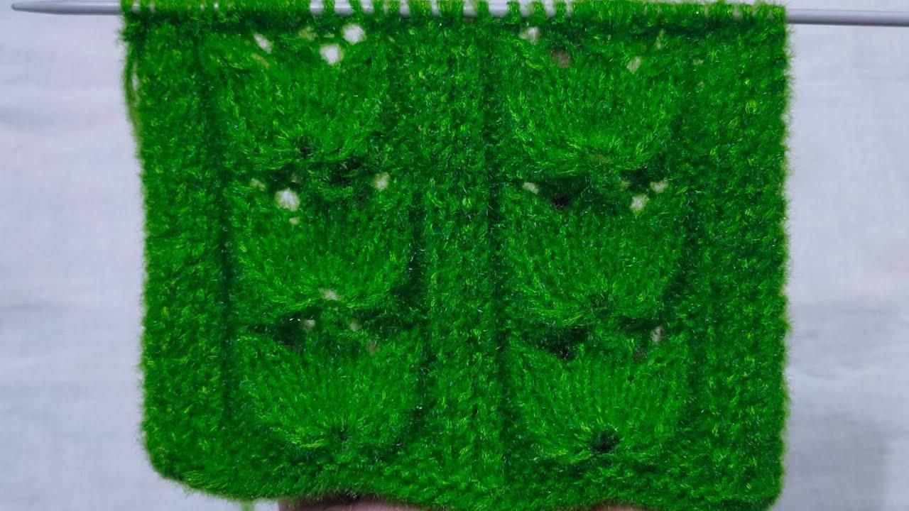 Tulip flower kabel design for special Ladies cardigan/ jacket kurti and girls Top#586*#21.