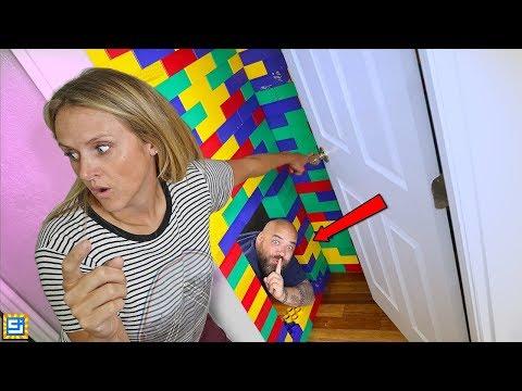 I BUILT A TOP SECRET Hide and Seek LEGO MEGA BLOCKS HOUSE!