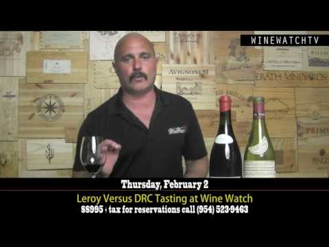 Leroy vs DRC Tasting at Wine Watch - click image for video