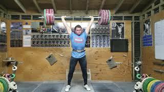 Ian Wilson 200kg/441lb Clean and Double Jerk