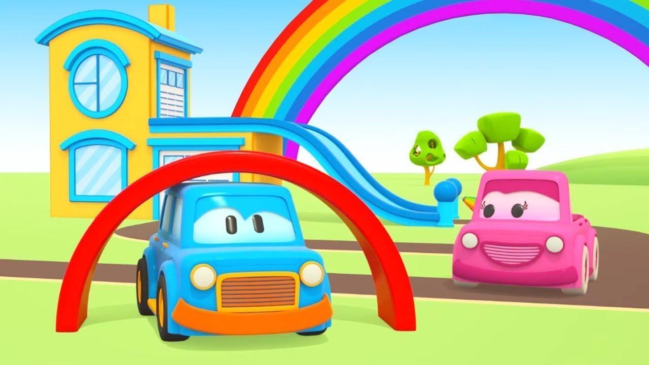 Um Arco Iris De Brinquedo Carros Inteligentes Desenhos Animados