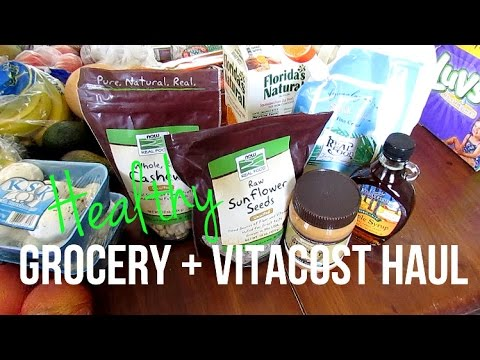 Healthy Grocery + Vitacost Haul with Meal Plans