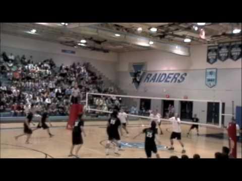 09 NA Varsity Boys VBall at SV Game 2