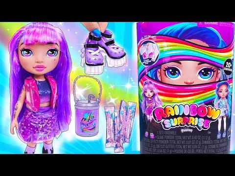 Куклы RAINBOW SURPRISE DOLLS С ОДЕЖДОЙ ИЗ СЛАЙМА своими руками! Мультик LOL Families Surprise DIY