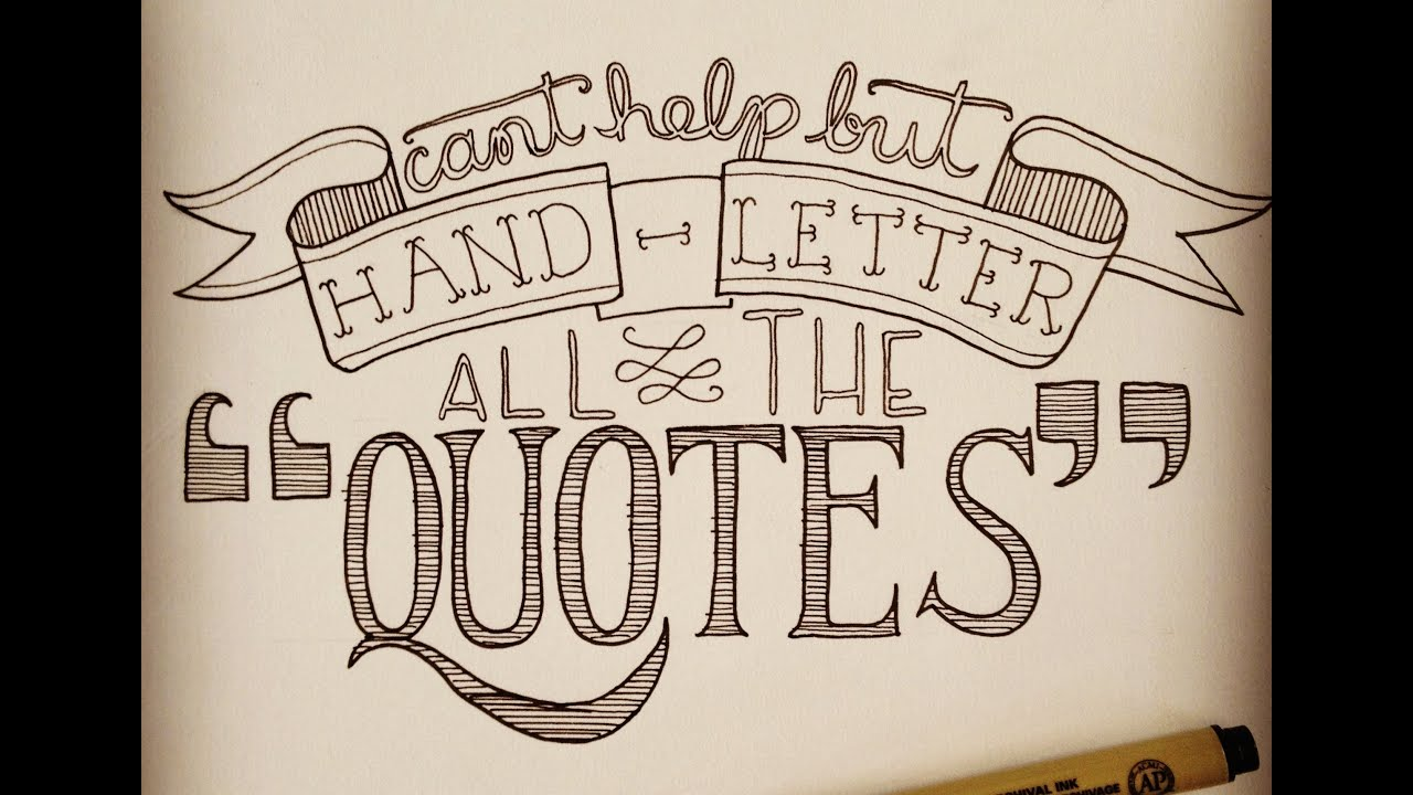 hand drawn lettering diy handlettering be fit and inspired 12074 | maxresdefault