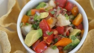 Easy Grilled Peach Salsa - With Avocado, Tomato, Lime Refreshing Appetizer By Rockin Robin