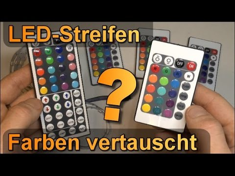 rgb led streifen farben auf fernbedienung vertauscht youtube. Black Bedroom Furniture Sets. Home Design Ideas