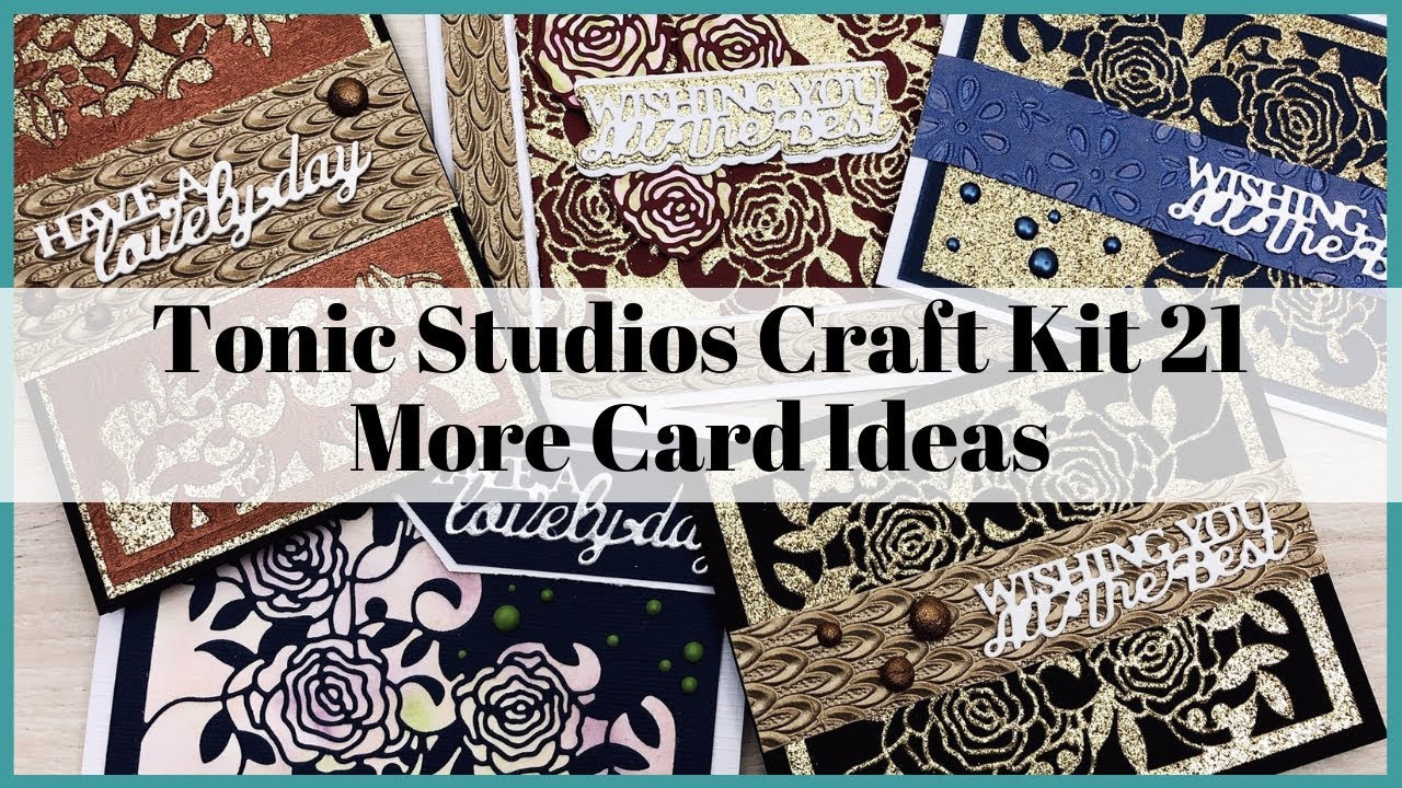 Tonic Studios Craft Kit 21 More Card Ideas Stretch Your Products