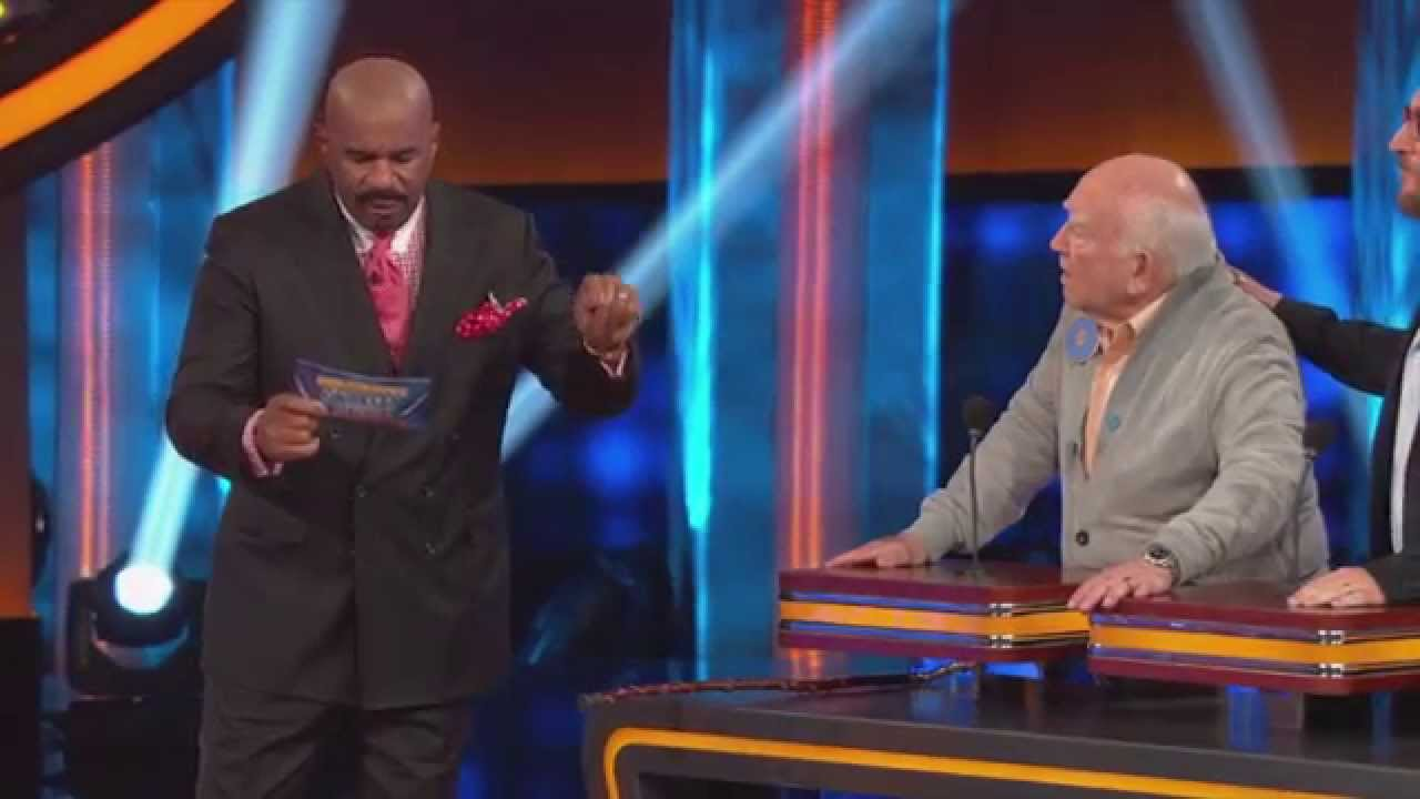 Celebrity Family Feud - Ed Asner's Shocking Answer - YouTube