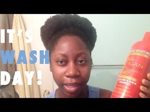 4C Hair Wash Day + Tangle Teezer Demo