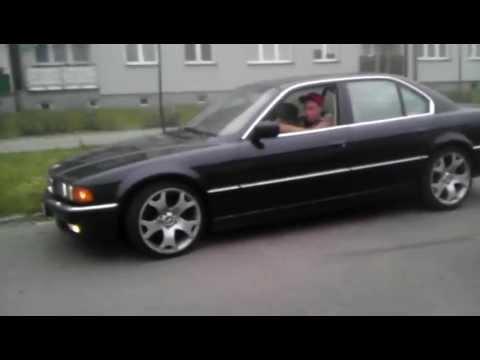 BMW e38 740 Custom exhaust V8