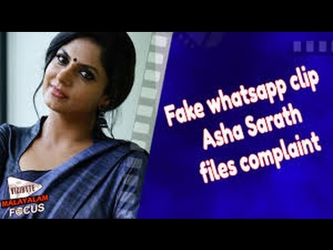 Fake Whatsapp Clip, Asha Sarath Files Complaint