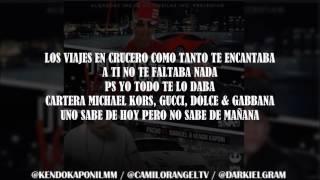 DECIDISTE VOLAR (LETRA) - PACHO EL ANTIFEKA FT KENDO KAPONI & DARKIEL OMAR