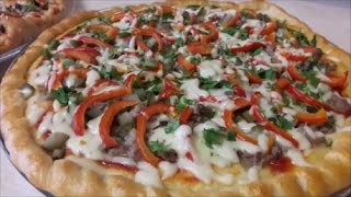 ДОМАШНЯЯ ПИЦЦА. Быстрый и лёгкий рецепт (tasty pizza).Простой рецепт пиццы DIY