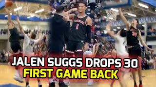 Jalen Suggs Returns To Court & Drops 30 POINTS In SENIOR SEASON DEBUT! Coming For Heads Already 👀