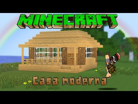 Minecraft casa moderna de madera facil tutorial 1 8 3 for Casa moderna 2 minecraft
