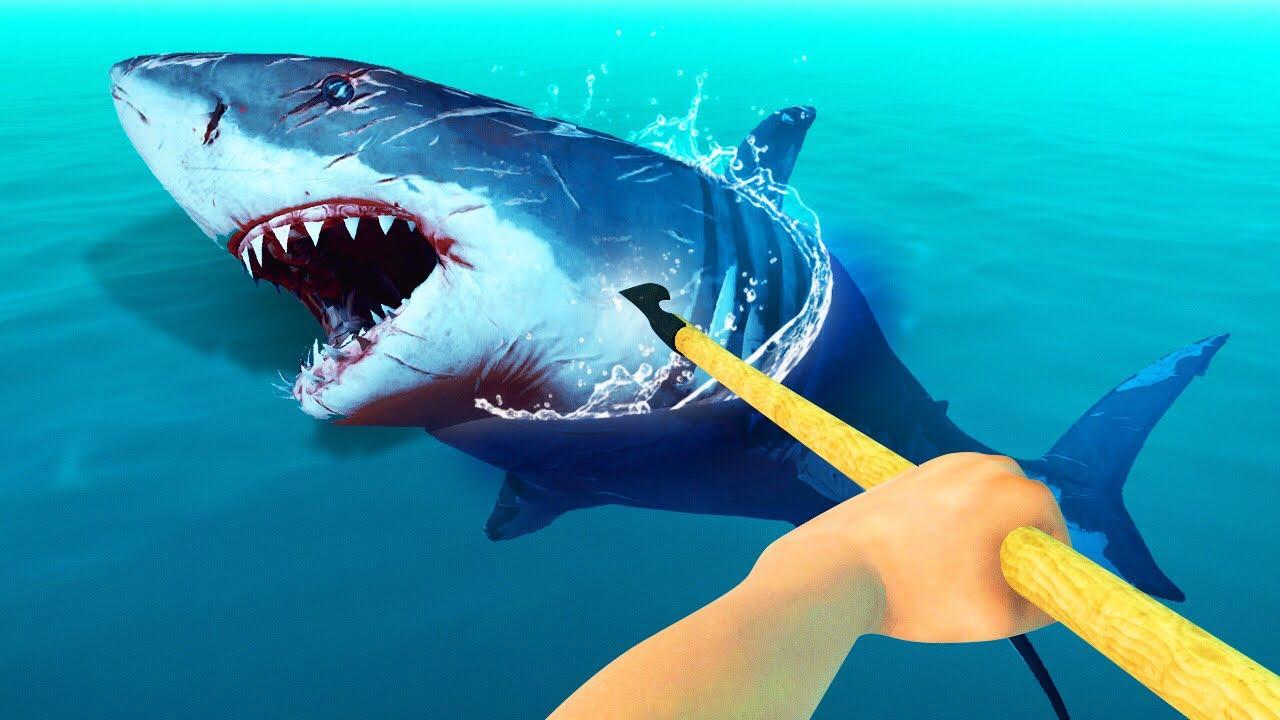 Killing The Dangerous Shark Raft Youtube