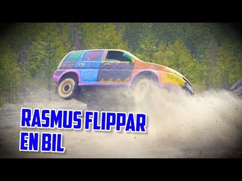 Rackartygarna - Rasmus flippar en bil utan bälte!!