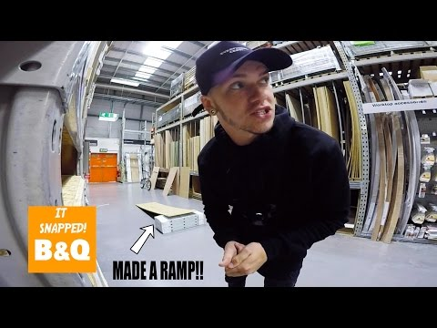 BMX RIDING IN B&Q! **MADE A RAMP INSIDE**