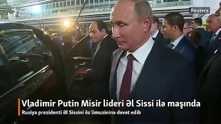 Putin limuzinin sürdü