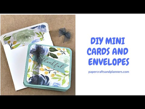 DIY Mini Thank You Cards and Envelopes