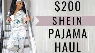 SHEIN PAJAMA HAUL! (Everything under $150)