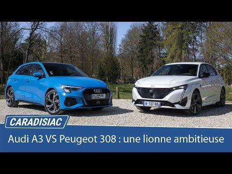 Comparatif - Nouvelle Peugeot 308 vs Audi A3 Sportback : une lionne ambitieuse