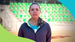 Виктория Томова - лице на Здравна тенис академия за родители и деца