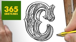 COMO DIBUJAR LETRA C KAWAII PASO A PASO - Dibujos kawaii faciles - How to draw a Letra C