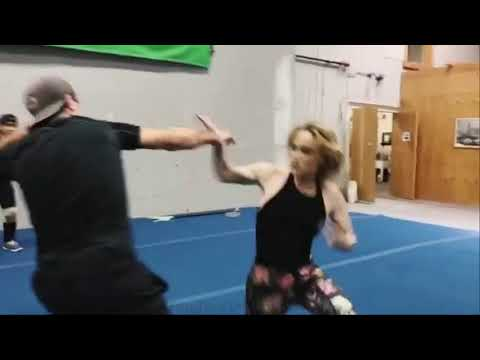 Stunt Rehearsal For Legends Of Tomorrow  Caity Lotz