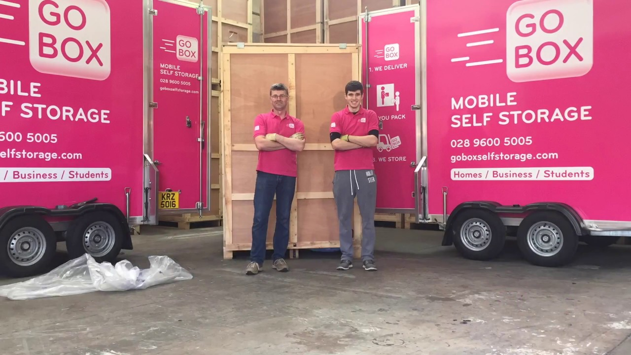 How to load a Go Box self storage unit & How to load a Go Box self storage unit - YouTube
