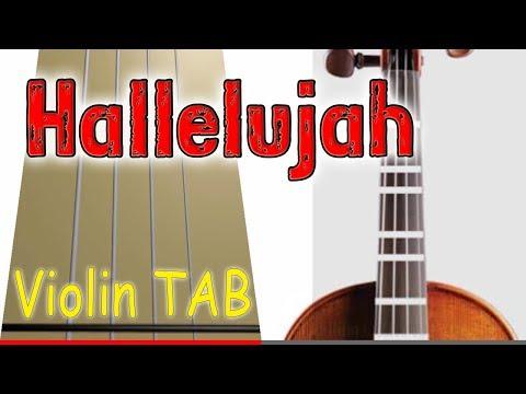 Hallelujah - Violin - Play Along Tab Tutorial
